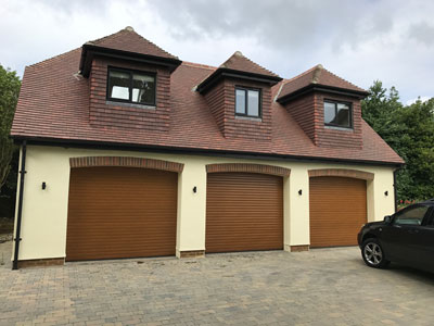 New build first floor flat with a triple garage.